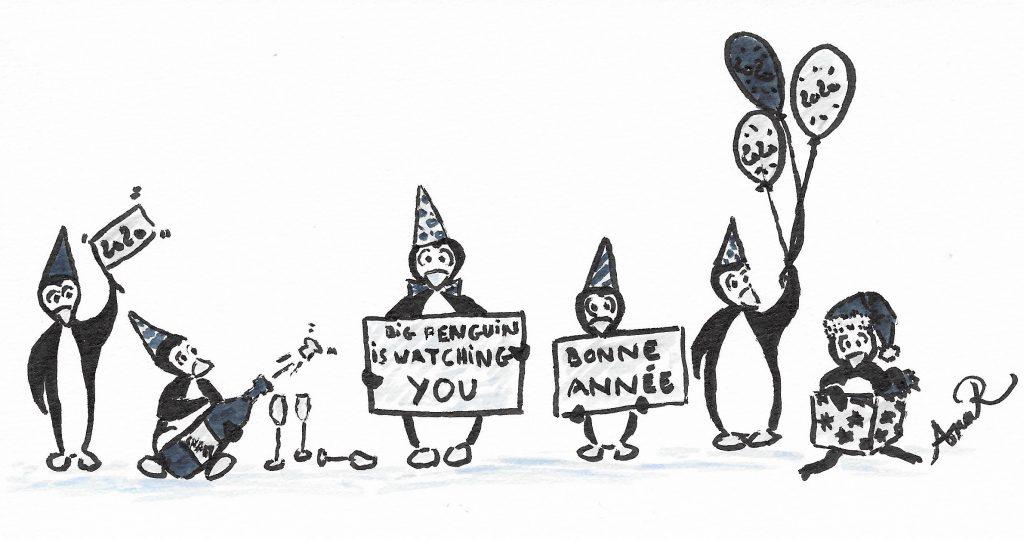 Bonne année Pingouins